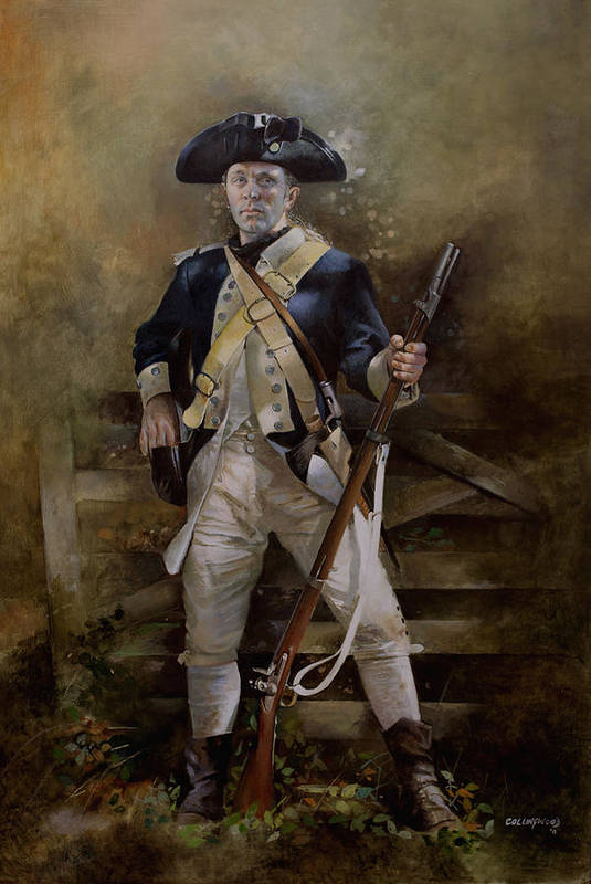 American War Of Independance Print featuring the painting American Infantryman C.1777 by Chris Collingwood