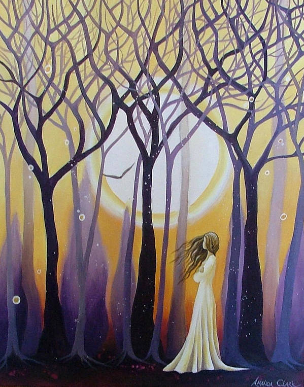 Acrylic Print featuring the painting The View by Amanda Clark