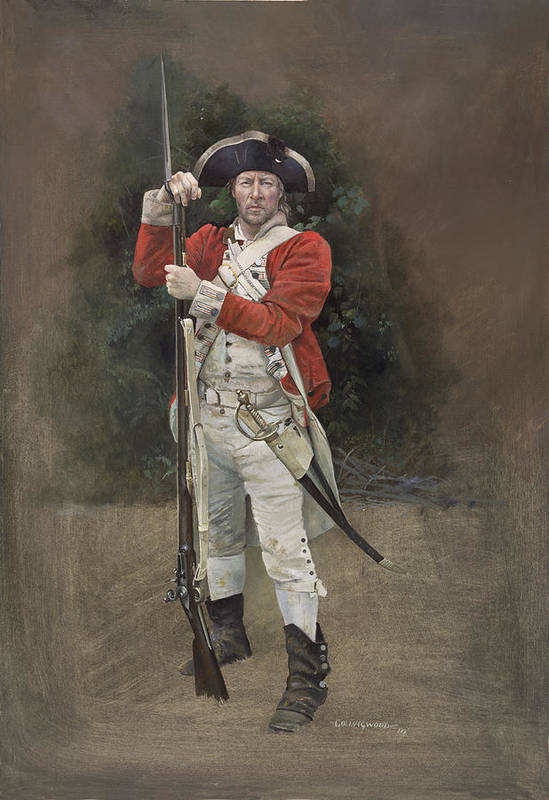 Redcoat Print featuring the painting British Infantryman C.1777 by Chris Collingwood