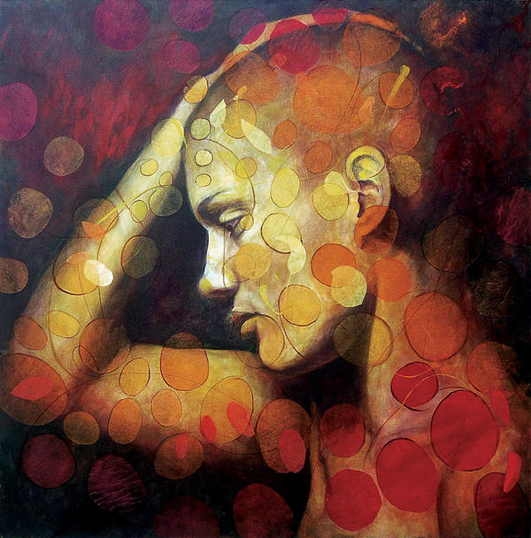 Portrait Print featuring the painting Emotions by Karina Llergo