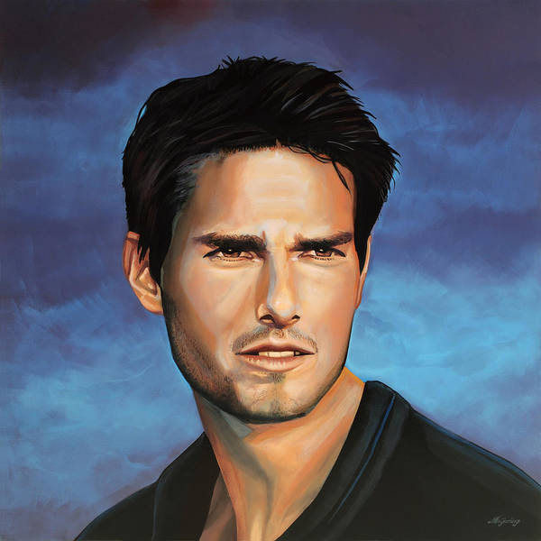Tom Cruise Print featuring the painting Tom Cruise by Paul Meijering
