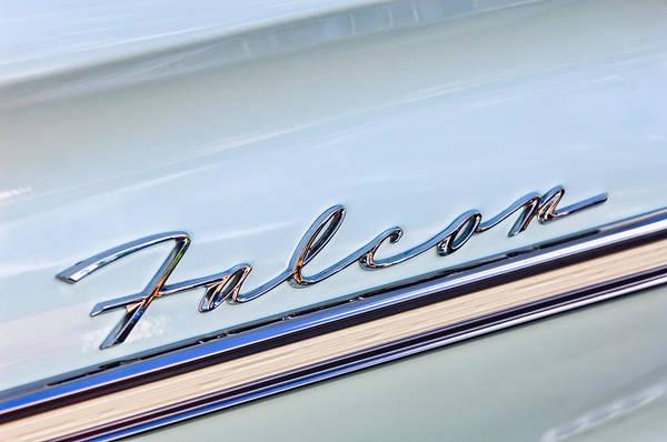 1963 Ford Falcon Futura Convertible Emblem Print featuring the photograph 1963 Ford Falcon Futura Convertible Emblem by Jill Reger
