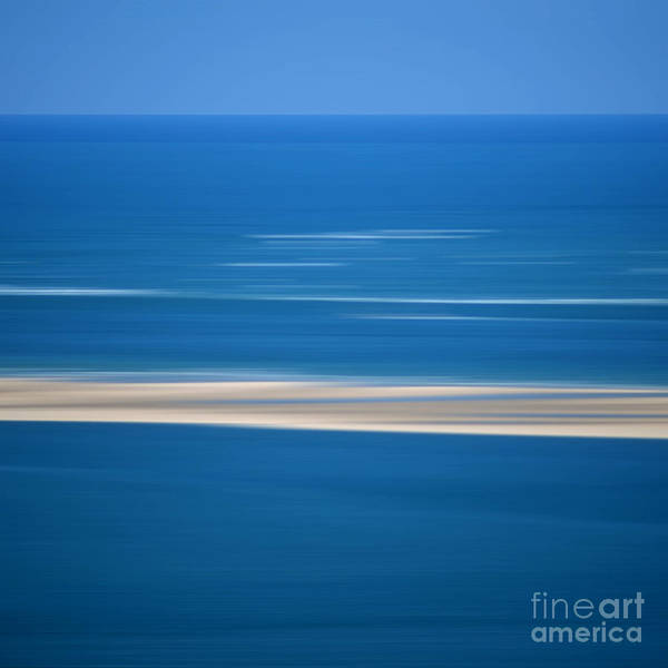 Outdoors Print featuring the photograph Blurred Sea by Bernard Jaubert