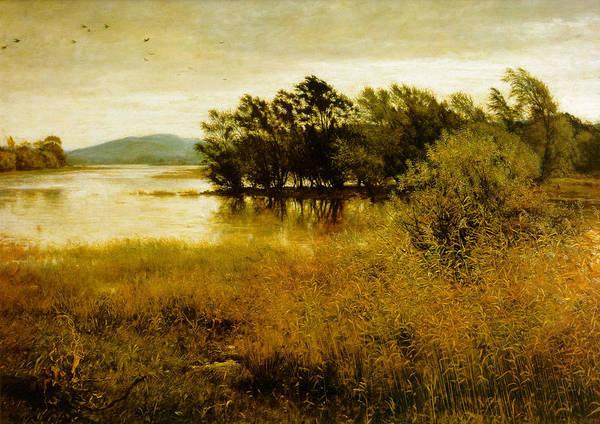Chill October Print featuring the digital art Chill October by John Everett Millais