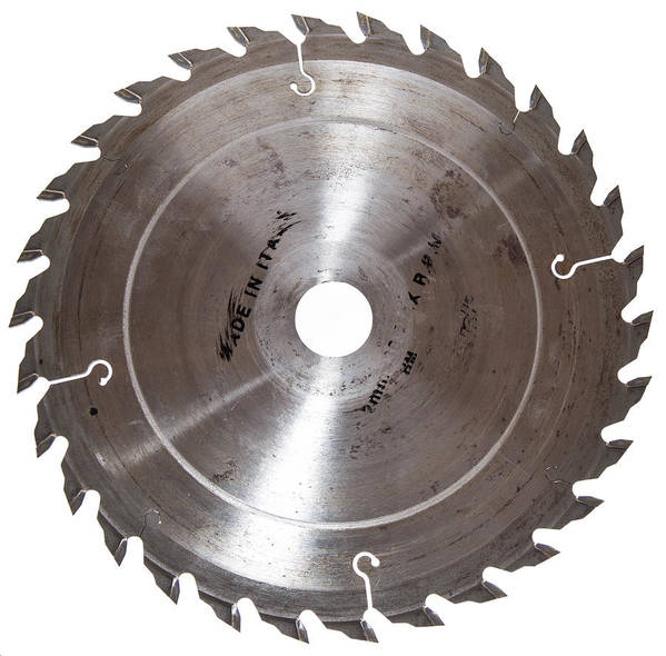 Circular Saw Print featuring the photograph Circular Saw Blade Isolated On White by Handmade Pictures