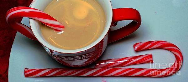 Cup Of Christmas Cheer Print featuring the photograph Cup Of Christmas Cheer - Candy Cane - Candy - Irish Cream Liquor by Barbara Griffin