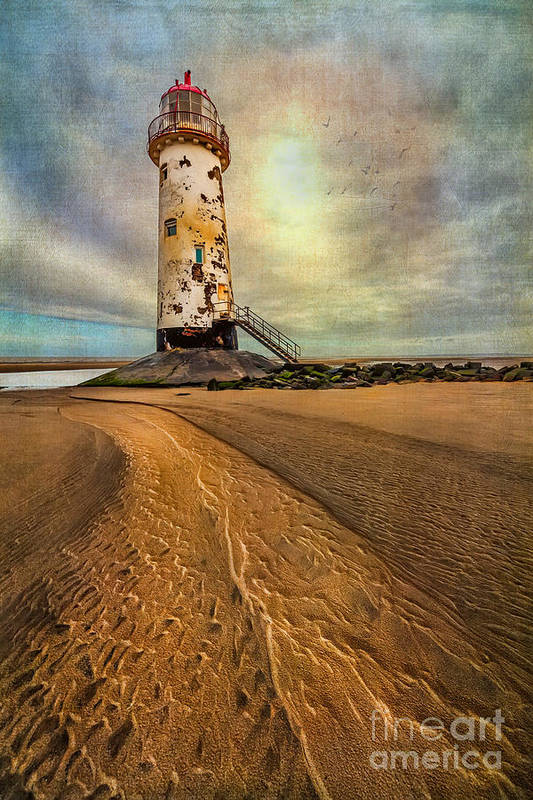 British Print featuring the photograph Point Of Ayre Lighthouse by Adrian Evans