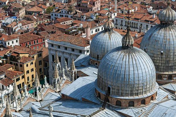 Venice Print featuring the photograph San Marco Basilica. Venice. by Fernando Barozza
