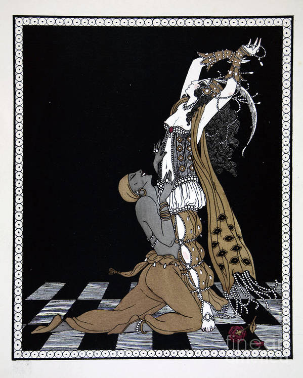 Scheherazade Print featuring the painting Scheherazade by Georges Barbier