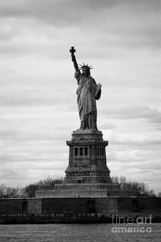 Usa Print featuring the photograph Statue Of Liberty Liberty Island New York City Usa by Joe Fox