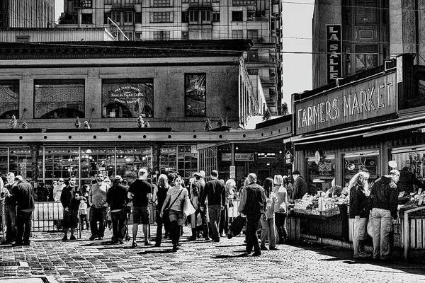 Pike Place Market Print featuring the photograph The Market At Pike Place by David Patterson