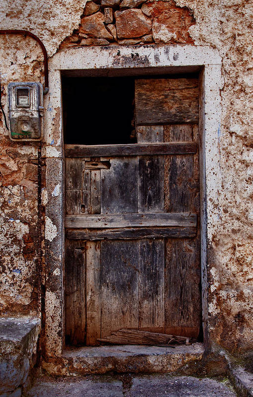 Old Print featuring the photograph Traditional Door by Emmanouil Klimis