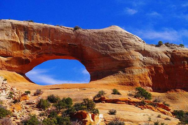 Arches Print featuring the photograph Wilsons Arch by Jeff Swan