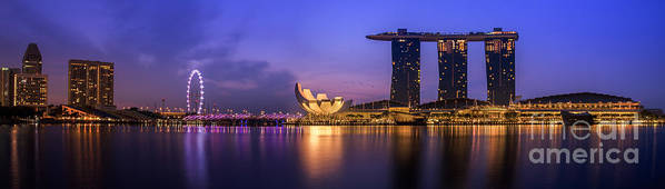 View Print featuring the photograph Singapore City by Anek Suwannaphoom