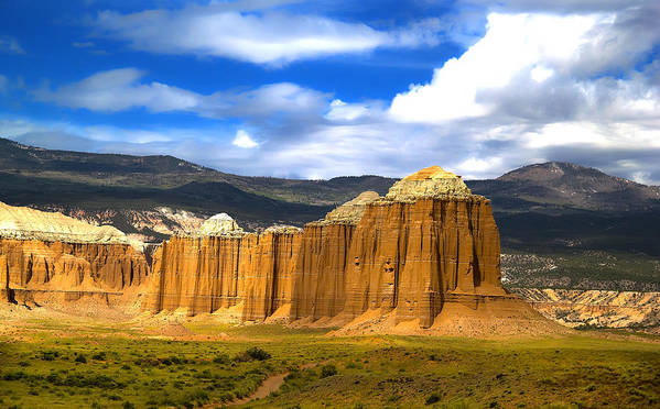 Capitol Reef National Print featuring the photograph Capitol Reef National Park Cathedral Valley by Mark Smith