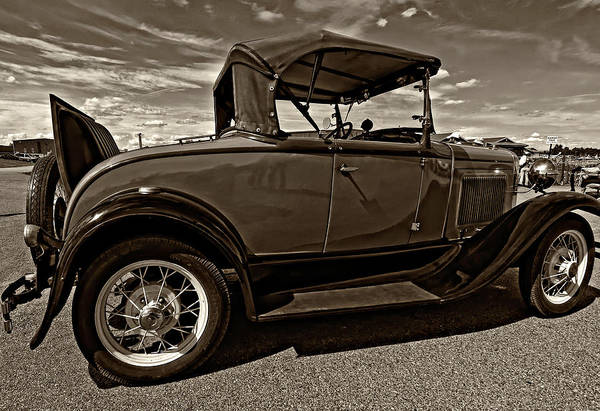 Ford Print featuring the photograph 1931 Model T Ford Monochrome by Steve Harrington