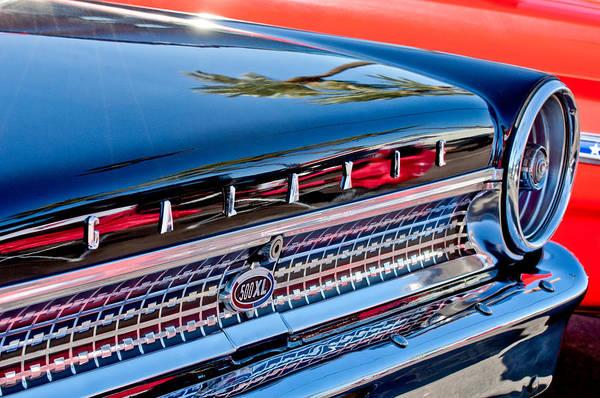 1963 Ford Galaxie 500xl Taillight Emblem Print featuring the photograph 1963 Ford Galaxie 500xl Taillight Emblem by Jill Reger