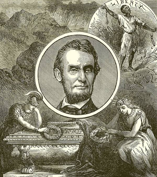 Abraham Lincoln Print featuring the drawing Abraham Lincoln by English School