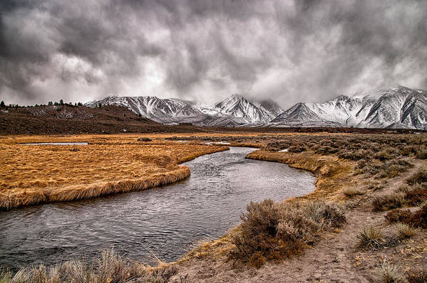 River Print featuring the photograph Hot Creek by Cat Connor