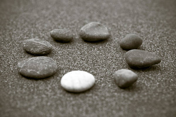 Frank Tschakert Print featuring the photograph Pebbles by Frank Tschakert