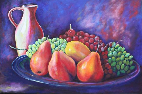 Fruit Print featuring the painting Simple Abundance by Eve Wheeler