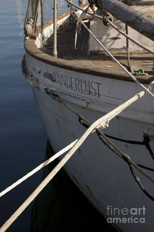Boats Print featuring the photograph S.o. Wanderlust by Amanda Barcon