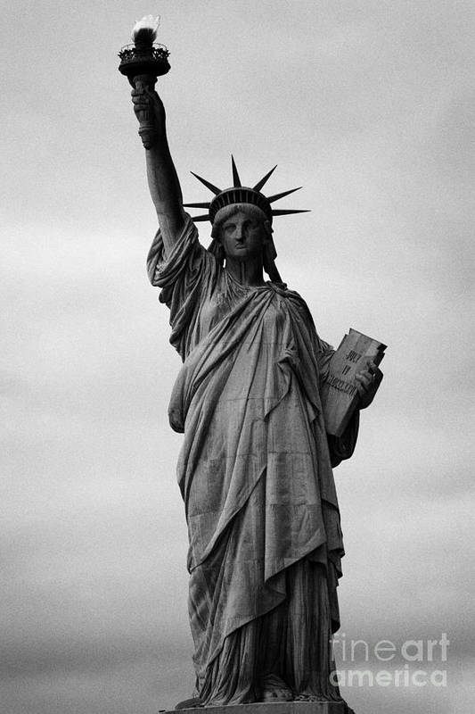 Usa Print featuring the photograph Statue Of Liberty National Monument Liberty Island New York City by Joe Fox