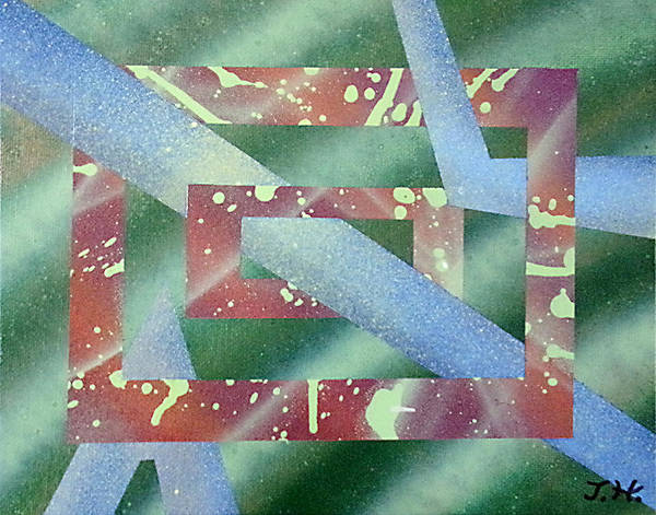 Abstract Print featuring the painting Untitled by Tanya Hamell