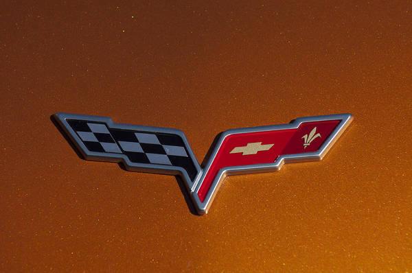 2007 Chevrolet Corvette Indy Pace Car Print featuring the photograph 2007 Chevrolet Corvette Indy Pace Car Emblem by Jill Reger