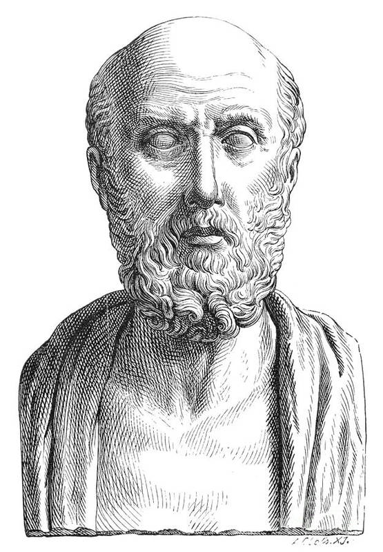 4th Century B.c Print featuring the photograph Hippocrates (c460-c377 B.c.) by Granger
