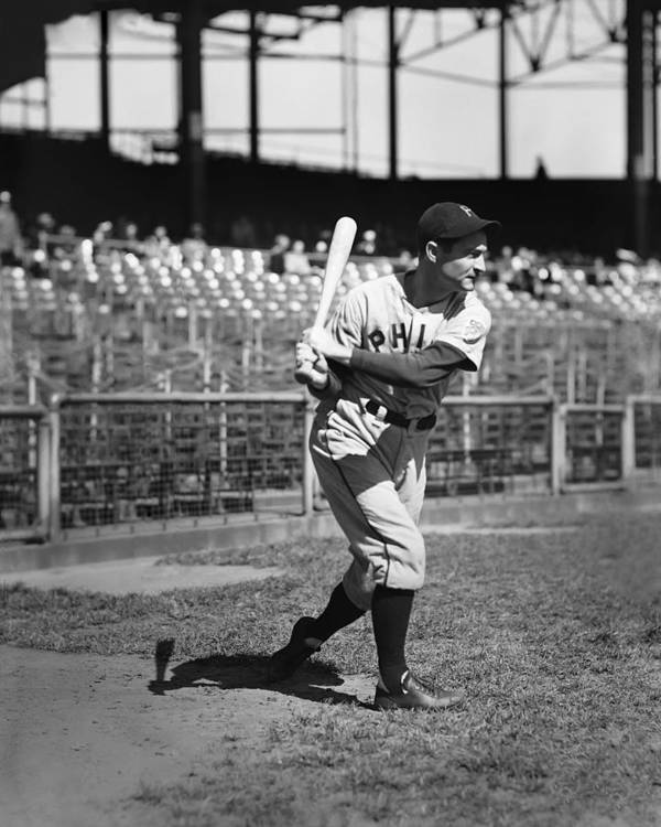 Baseball Print featuring the photograph Lloyd J. Waner by Retro Images Archive