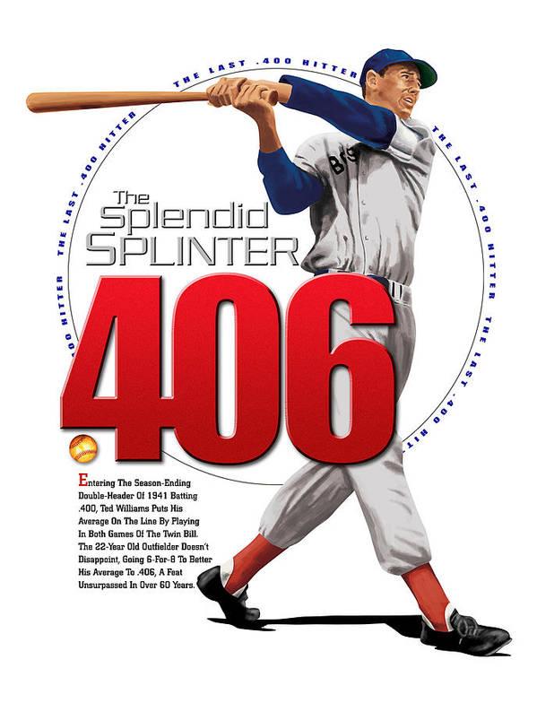 The Spledid Splinter Print featuring the digital art 406 by Ron Regalado