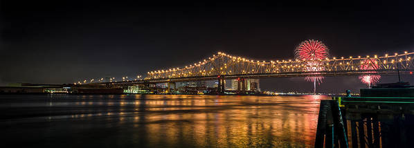 New Orleans Print featuring the photograph 4th Of July Over The Big Easy Part Deaux by David Morefield