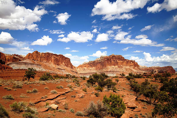 Southern Utah Print featuring the photograph Captiol Reef National Park by Mark Smith