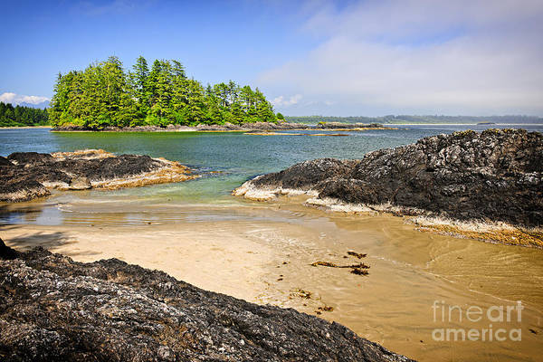Pacific Print featuring the photograph Coast Of Pacific Ocean On Vancouver Island by Elena Elisseeva