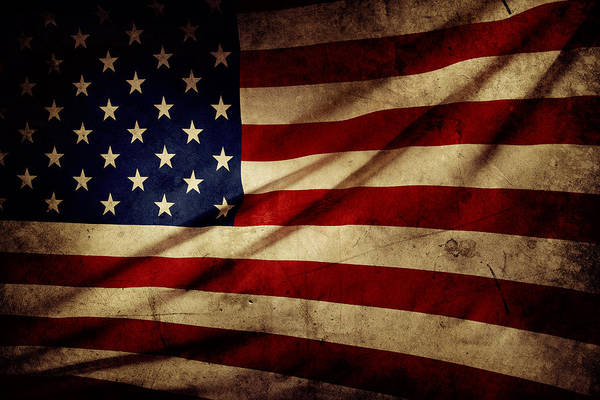 Flag Print featuring the photograph American Flag by Les Cunliffe