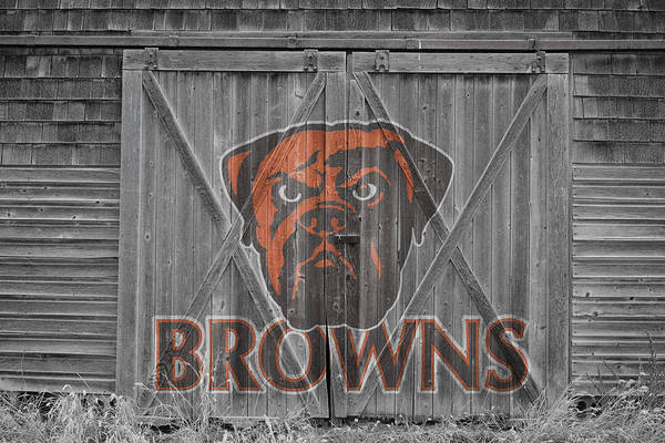 Browns Print featuring the photograph Cleveland Browns by Joe Hamilton