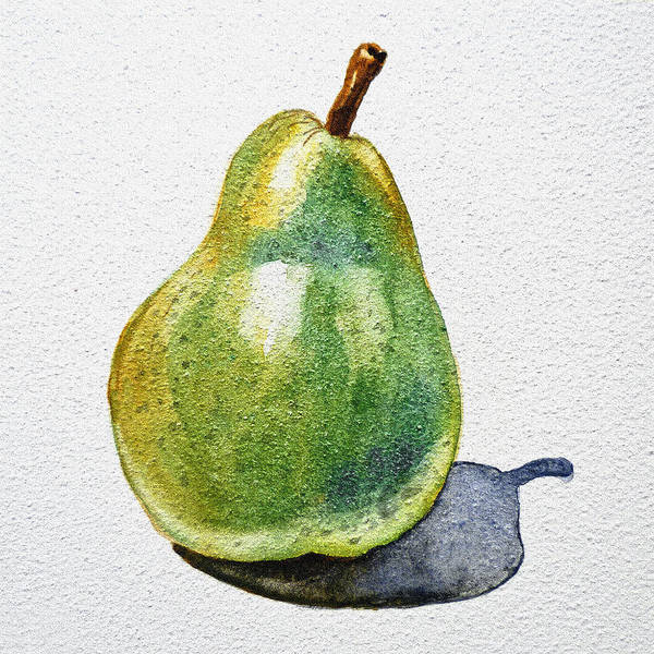 Agriculture Print featuring the painting A Pear by Irina Sztukowski