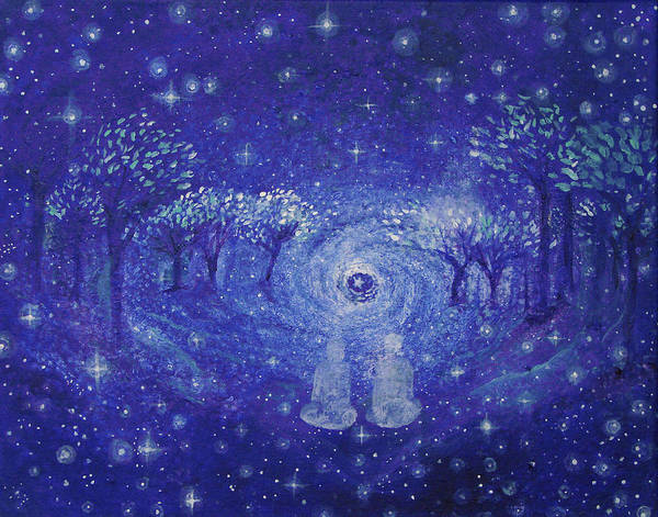 Star Print featuring the painting A Star Night by Ashleigh Dyan Bayer