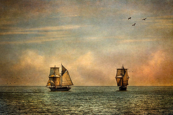 Tall Ships Print featuring the photograph A Vision I Dream by Dale Kincaid