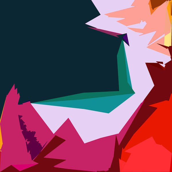 Abstract Print featuring the digital art Abstract 4-2013 by John Lautermilch