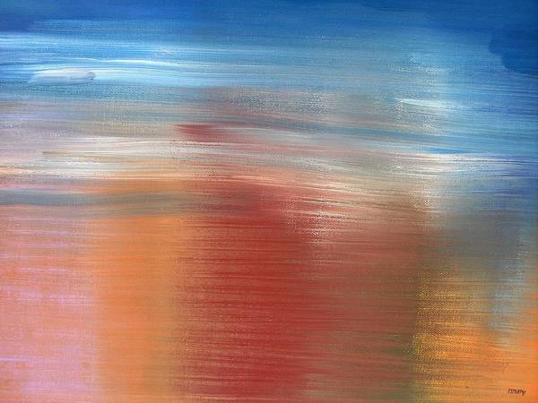 Abstract Print featuring the painting Abstract 422 by Patrick J Murphy