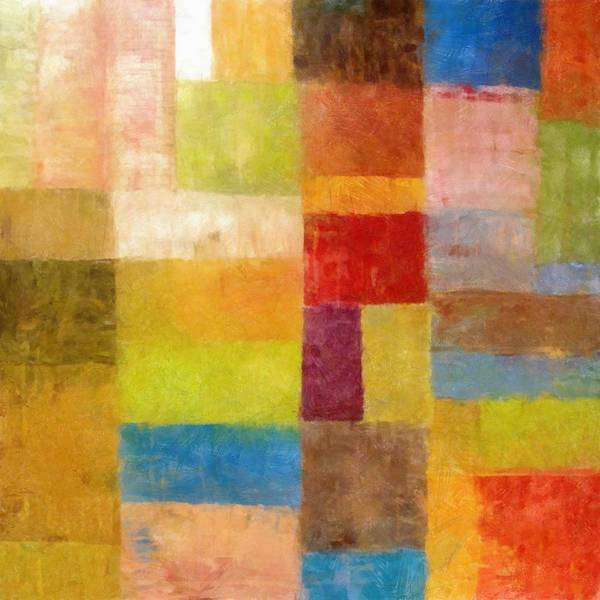 Abstract Print featuring the painting Abstract Color Study Vii by Michelle Calkins