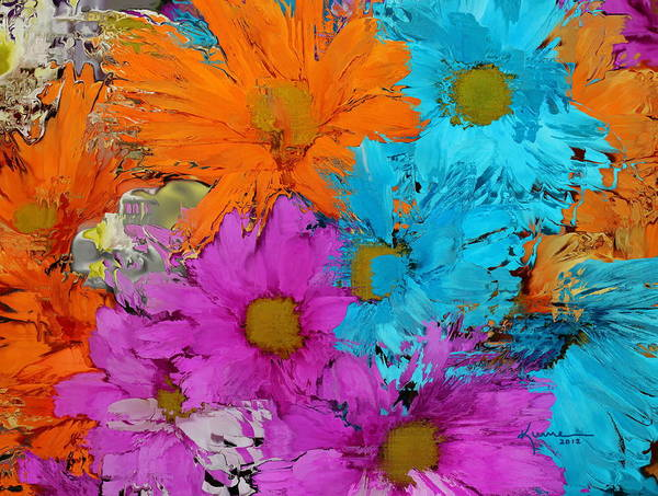 Flower Print featuring the photograph All The Flower Petals In This World 2 by Kume Bryant