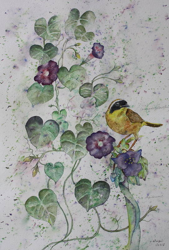 Botanical Print featuring the painting Almost Botanical by Patsy Sharpe