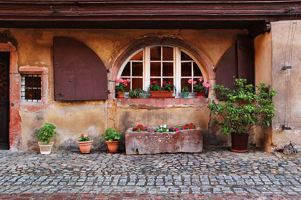 Alsace Print featuring the photograph Alsatian Home In Kaysersberg France by Greg Matchick