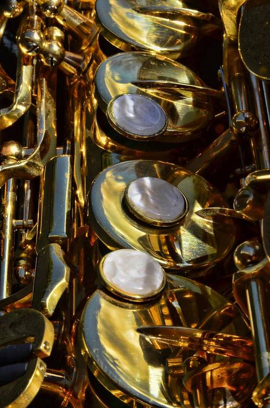 Instrument Print featuring the photograph Alto Sax Reflections by Ken Smith