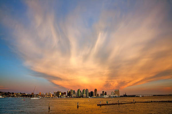 Amazing Sky Print featuring the photograph Amazing San Diego Sky by Peter Tellone