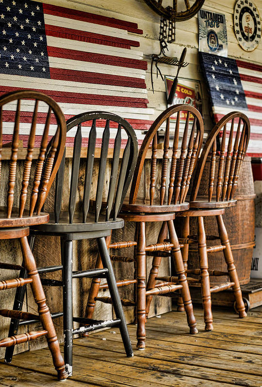 American Flag Print featuring the photograph Americana by Heather Applegate
