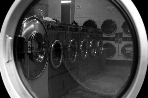 Laundromat Print featuring the photograph And So We Meet Again... by Luke Moore